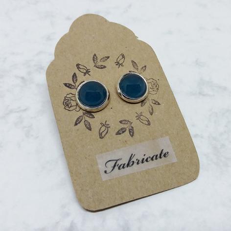 Kolczyki wkrętki - Zielone - Fabricate