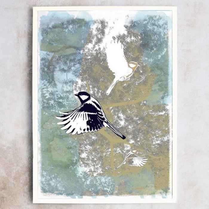 Ptaki I, plakat sygnowany, B2 70x50 cm - Autorski plakat