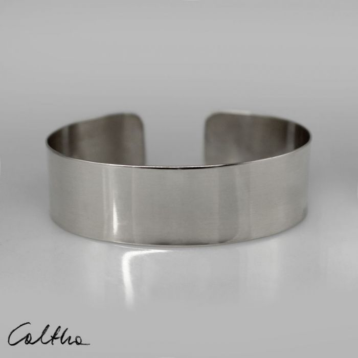 Gładka - metalowa bransoleta 190804-12