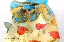 Jedwabny szal malowany ręcznie Nr.8
