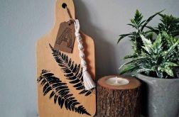 Deska kuchenna dekoracyjna z motywem liści