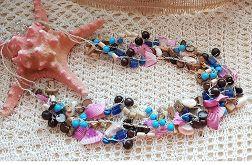 4983 naszyjnik muszla kwarc kokos drewno