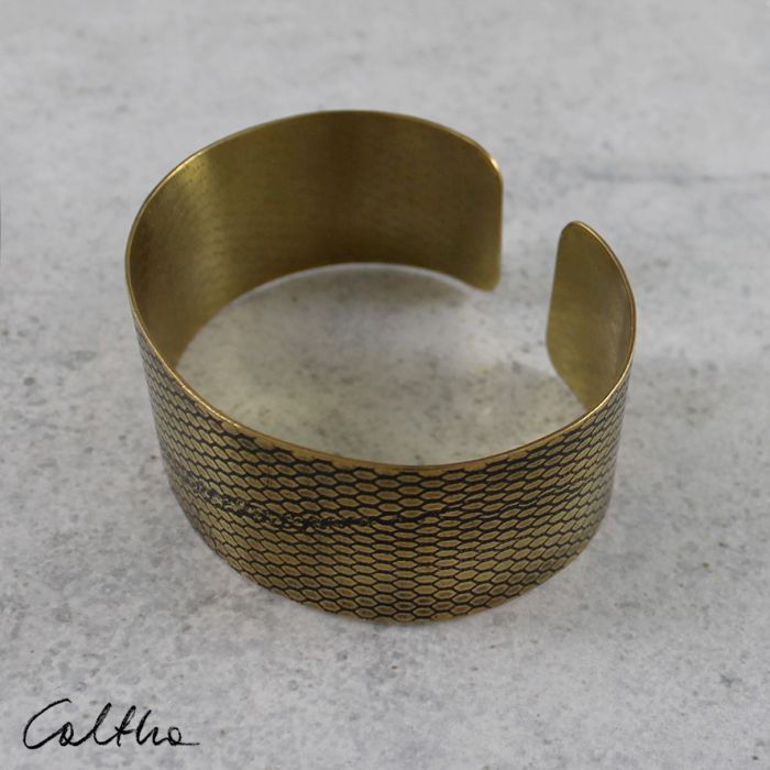 Mosiężna bransoleta - siateczka 170512-01 - Mosiężna bransleta