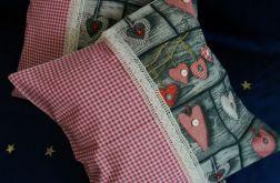 Patchworkowa poduszka rustykalna