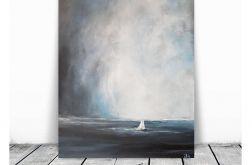 Samotna łódź-obraz akrylowy