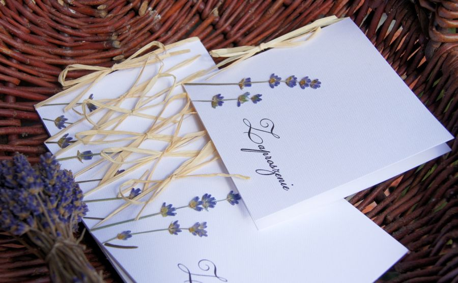Prowansalskie zaproszenia ślubne - zaproszenia prowansalskie
