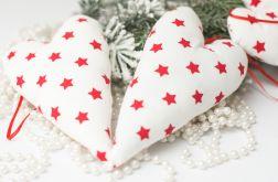 Świąteczne białę serce na choinkę