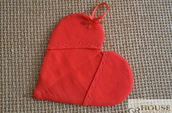 Łapka kuchenna serce