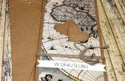 Kartka ślubna dla podróżników -mapa