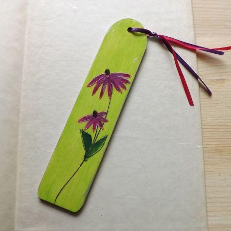 Zakładki malowane - Kwiaty w zieleni 1