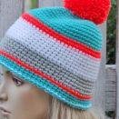 Szydełkowa czapka  - Ski