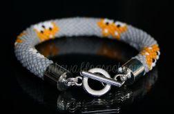 Fox #2 | Beaded Crochet Rope | Bransoletka