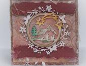 Kartka świąteczna vintage z choinką