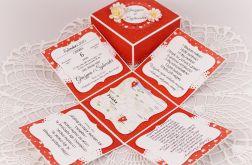 Pudełko na ślub z MAPĄ (wzór)