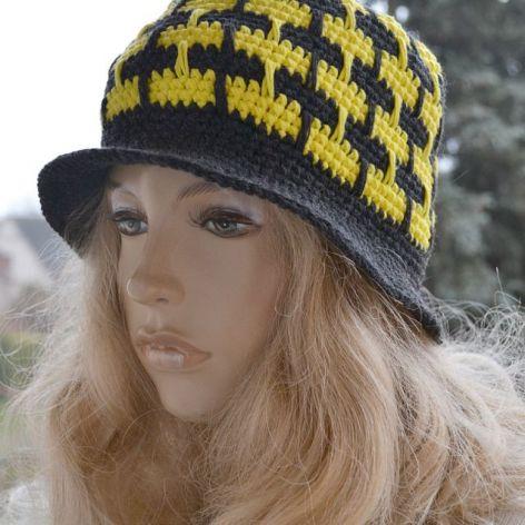 Wiosenny kapelusz w graficie