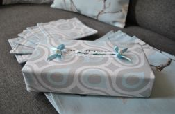 Etui na chusteczki - błękitne łezki