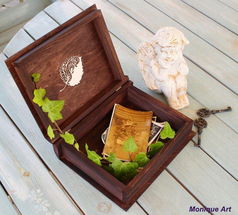 Pudełko w kształcie książki, motyw anioła, prezent -