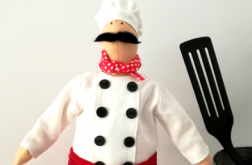 Lalka ręcznie robiona szef kuchni