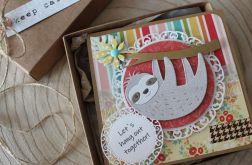 Kartka z leniwcem - Pudełko