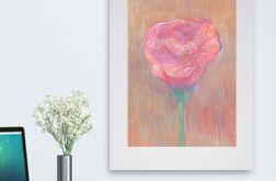 Rysunek kwiat na szarym tle nr 6 - obrazek