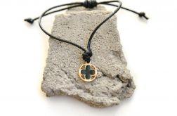 Bransoletka sznurkowa kabbalah z koniczynką