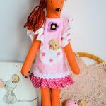 Lisek - słodka dama - Michalina - 40 cm