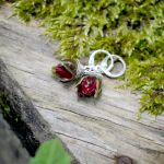 Zatopki pąki róży kolczyki - 3
