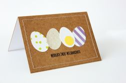 Kolorowe jaja kartka wielkanocna