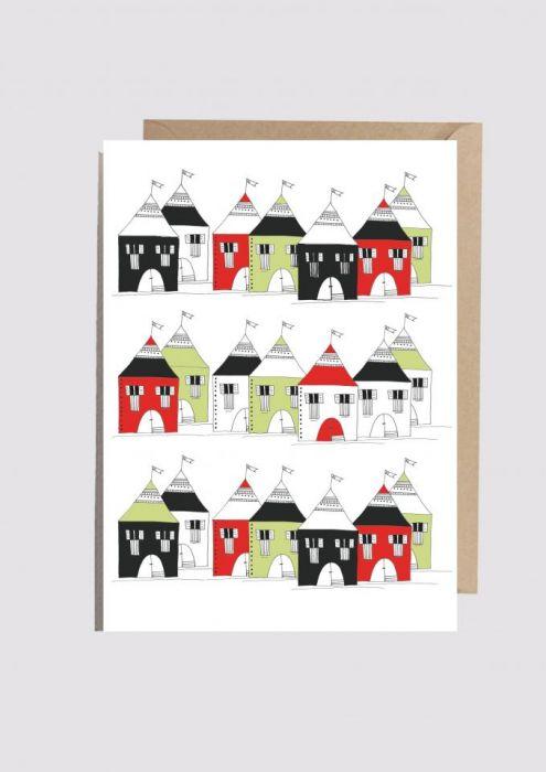 Kartka Kolorowe domki