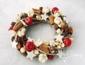 Zapach świąt - mały wianek świąteczny