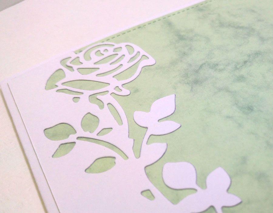 Zaproszenia z różą (bez kopert) - biała róża