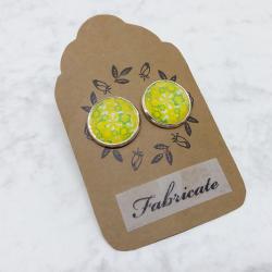 Kolczyki wkrętki - Żółte kwiaty
