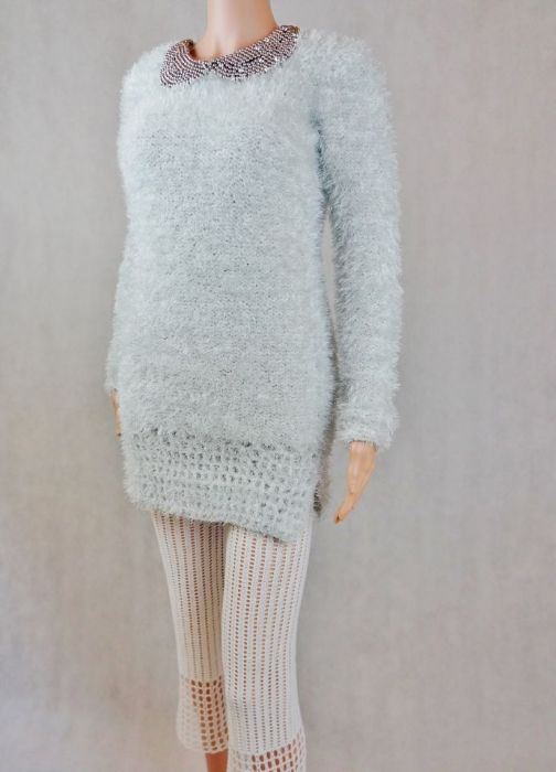 Sweter siwy HAND MADE