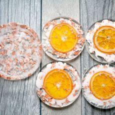 Zatopki 4 sztuki pomarańcze + przechowalnik