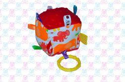 Kostka sensoryczna MINKY zabawka słoniki