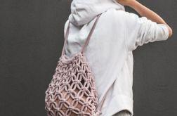 Plecak worek makrama ręcznie pleciony