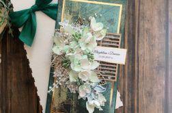 Kartka ślubna w zieleni
