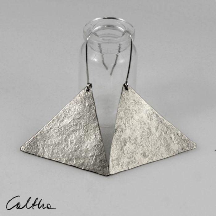 Trójkąty - srebrne kolczyki 191117-06 - Trójkątne kolczyki