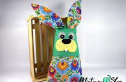 Królik maskotka-podusia z kieszonką łowicz