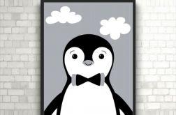 Plakat Pingwinek PIPI czarno-biały, A4