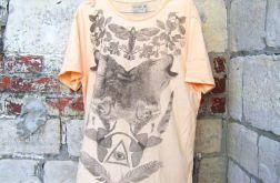 Koszulka  z nadrukiem  wilki - pom- rozmiar L