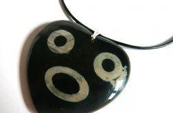Czarny agat, unikatowy wisior, srebro