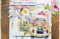 Auto- kartka ślubna