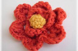 Malinowy kwiat - szydełko