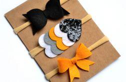 FairyBows zestaw opasek 3 sztuki kokardki