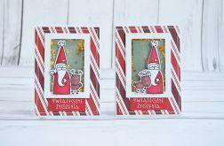Błyszcząca kartka ze świątecznymi życzeniami