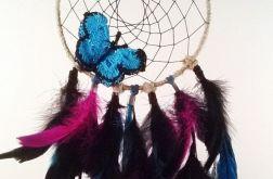 Łapacz snów - turkusowy motyl