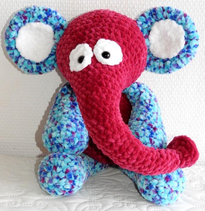 Słoń różowo-melanżowy