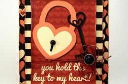 "Kartka ""Key to my heart"""