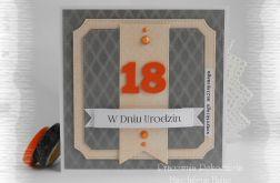 18 urodziny w szarości i pomarańczach